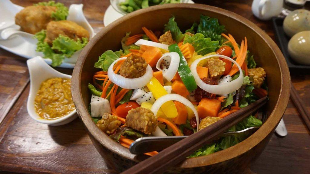 Veganes Mittagessen zum Abnehmen