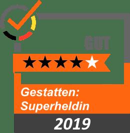 Bewertung 4 Sterne Gestatten Superheldin