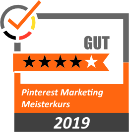 Bewertung 4 Sterne Pinterest Marketing Meisterkurs