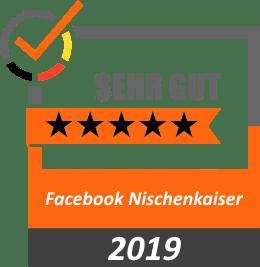 Bewertung 5 Sterne Facebook Nischenkaiser