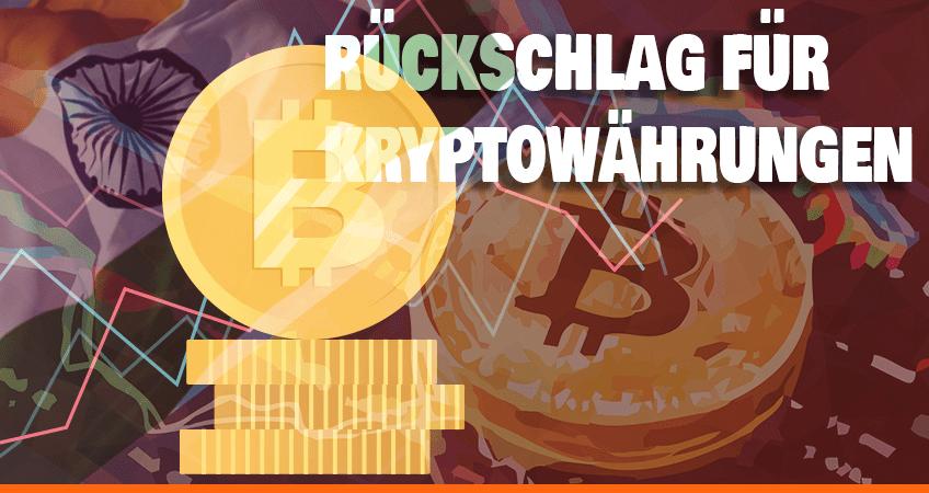 Rückschlag für Kryptowährungen