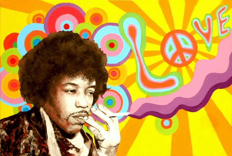 Illustration von Jimi Hendrix