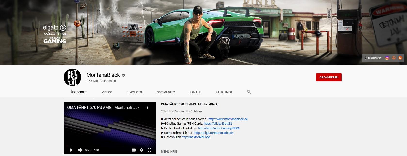 MontanaBlack Youtube