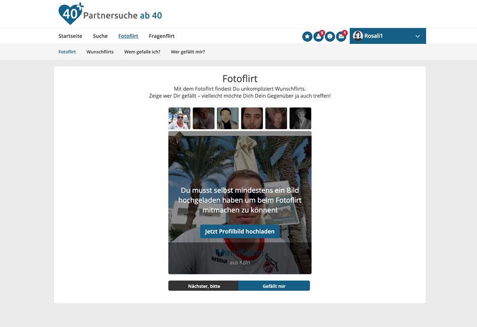 Partnersuche ab 40 Fotoflirt