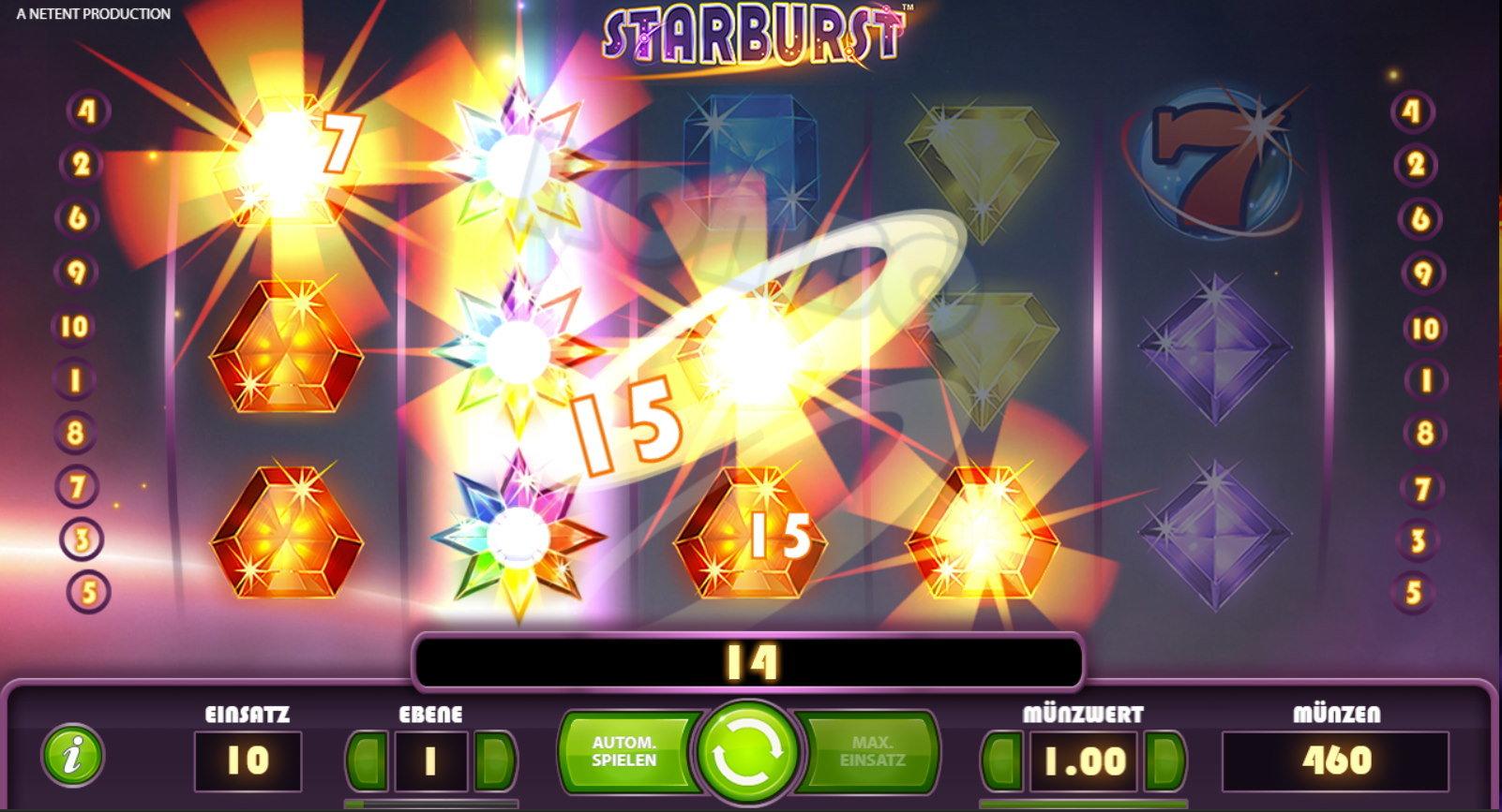 Starburst Wie wird Starburst gespielt und welche Bedeutung haben die Symbole