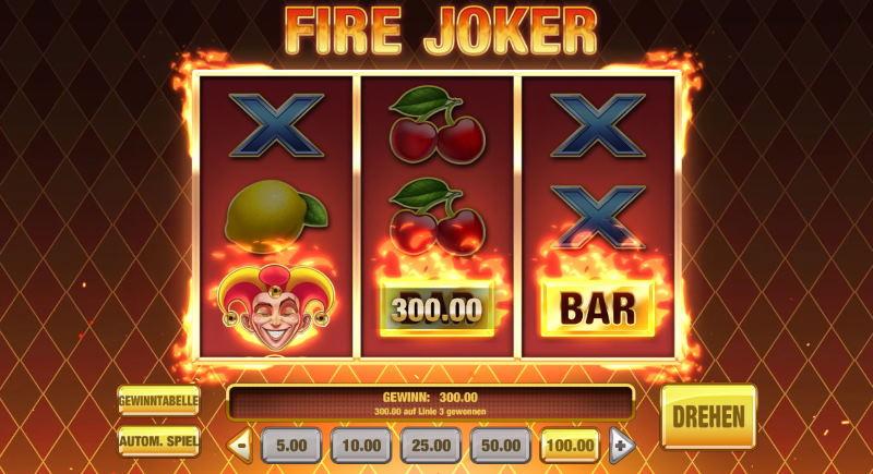Fire Joker Slot So wird eine Spielrunde gestartet