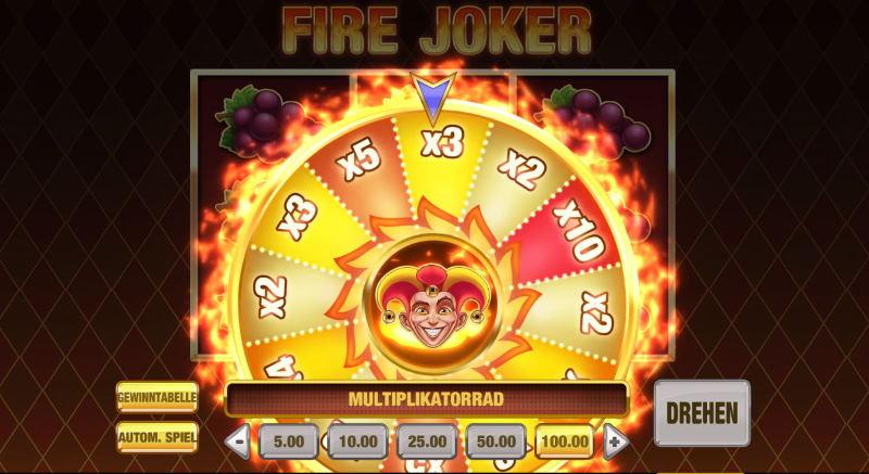 Freispiele und Features bei Fire Joker