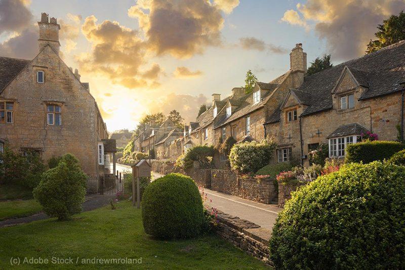 Bild: Typische Häuser in England